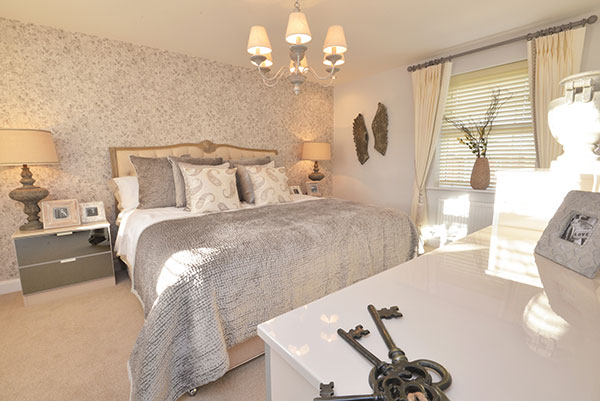 A Typical David Wilson Homes Bedroom