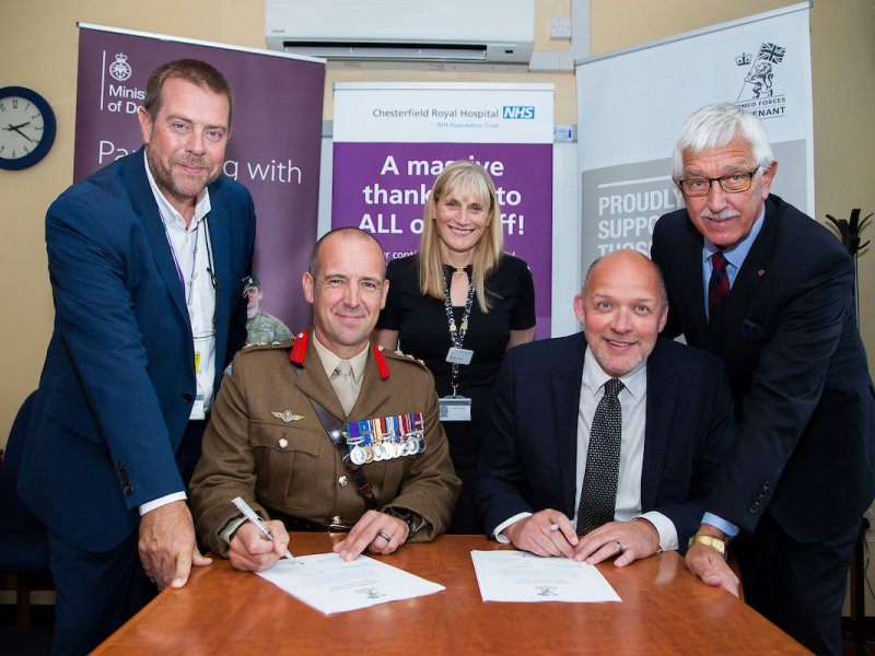 Chesterfield Hospital signs Armed Forces Covenant