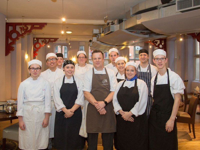 Students cook up a storm with the help of top  Nottingham chef