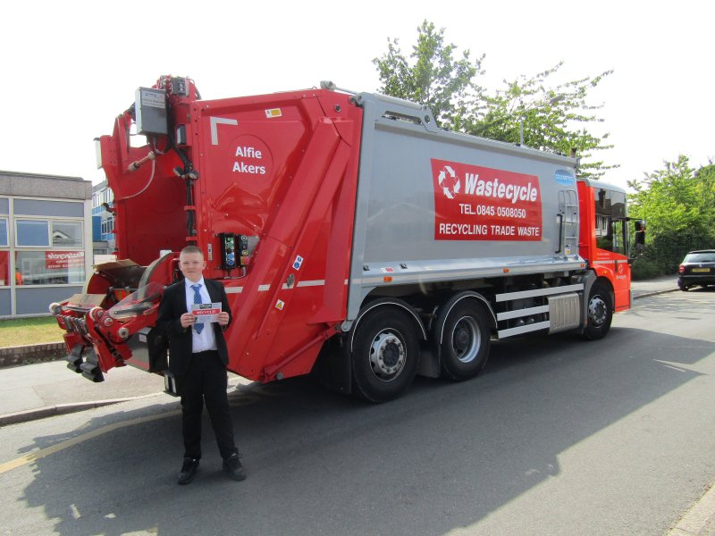 Wastecycle Names Lorry After School Competition Winner