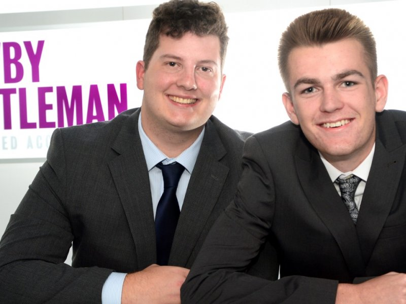 Bradley and Ryan take up training placements at Newby Castleman