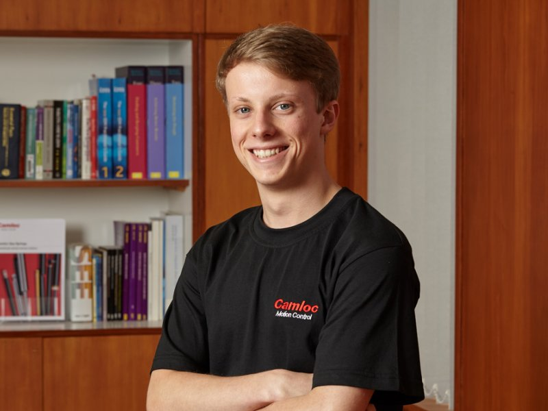 Camloc Motion Control invests in the talent of the future with the appointment of new apprentice, Conner Danvers-Rushin