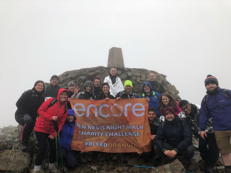 Encore reaches new heights raising £9,000 for charity