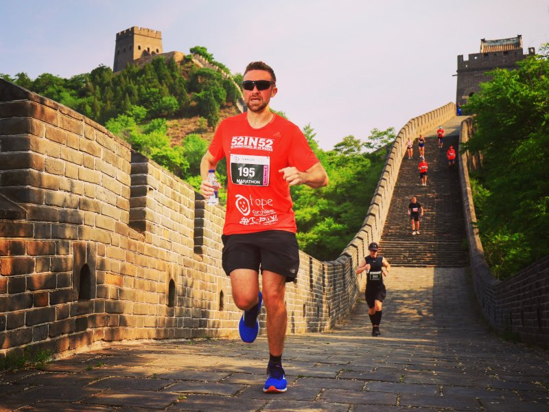 Daventry Ultramarathoner conquers Great Wall of China for Hope for Children