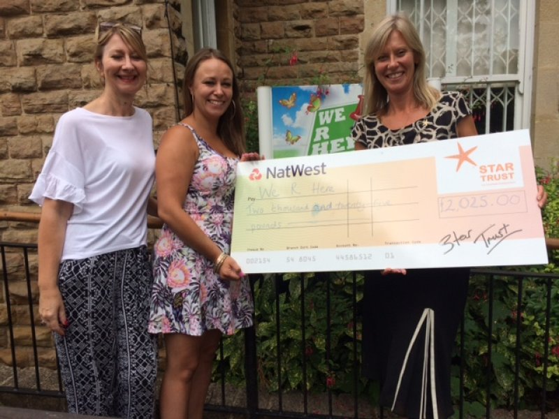 Counselling charity can continue support with £2k donation from Star Trust