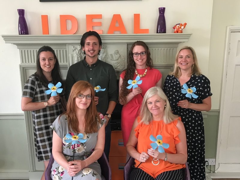 Marketing agency shows support for LOROS flower appeal