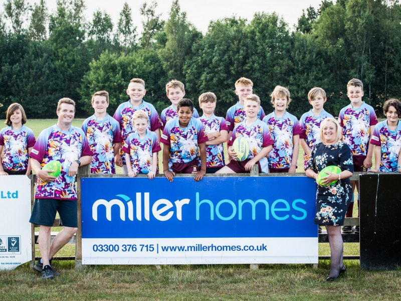 Miller Homes Midlands scores sponsorship with Ashby Rugby Club Minis