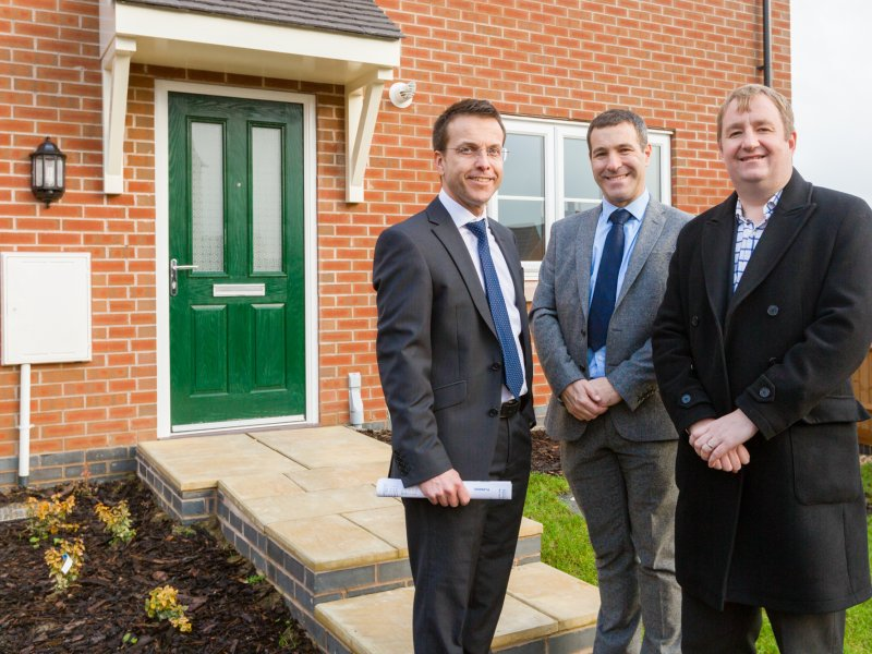 Peveril Homes injects quality homes into the social housing market, as local MP Nigel Mills visits the housebuilder's Smalley Manor development