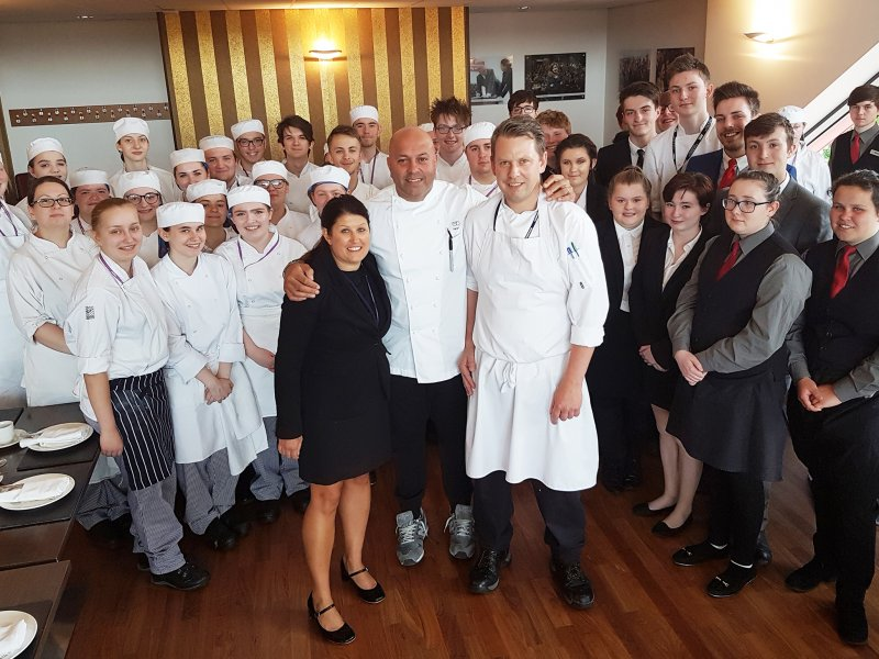 Sat Bains inspires next generation of chefs and managers