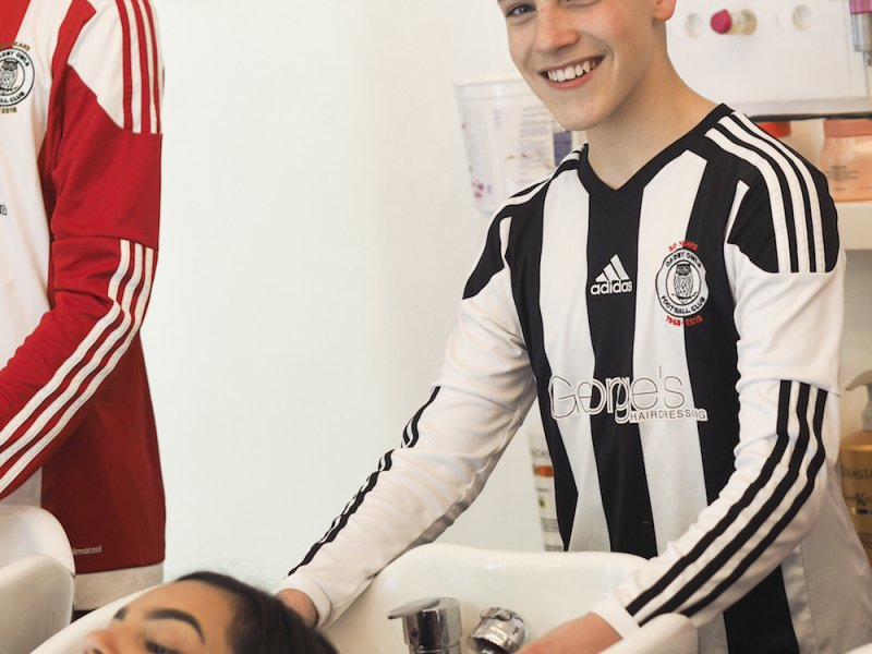 George's Hairdressing supports local football club