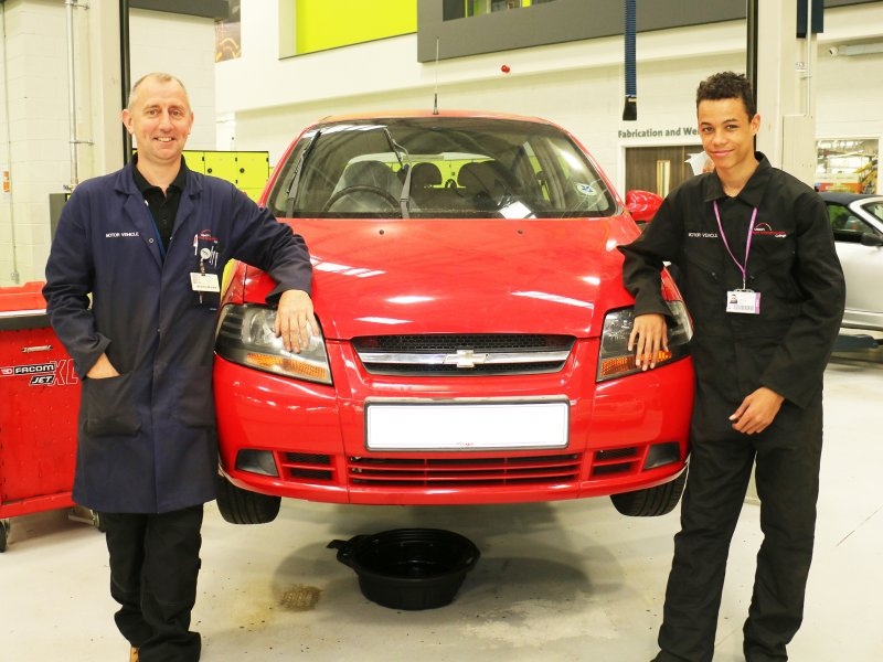 New lease of life for old cars at college's motor vehicle workshop