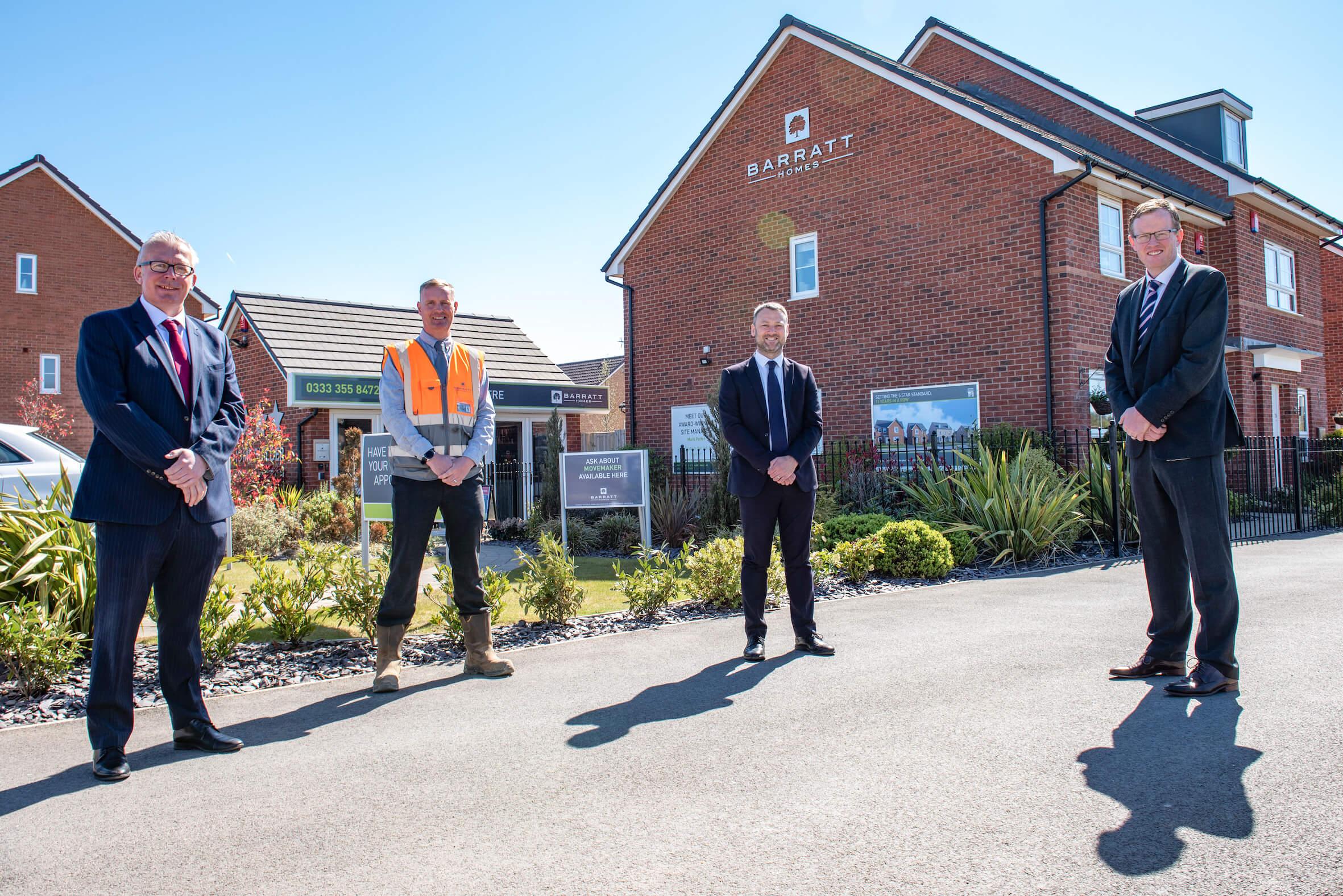 Local housebuilder welcomes Brendan Clarke-Smith MP to Worksop development