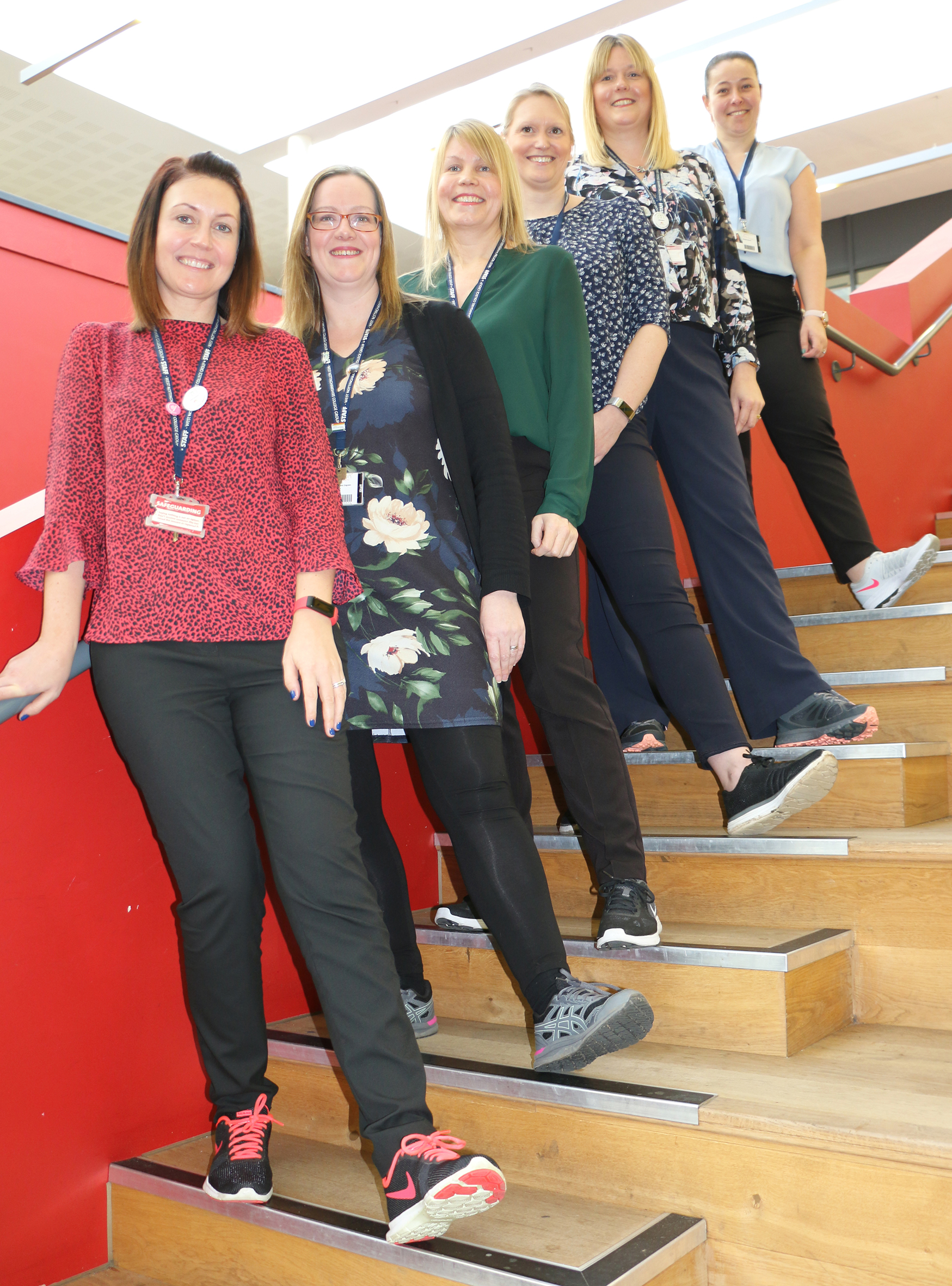 Staff march on through March for charity