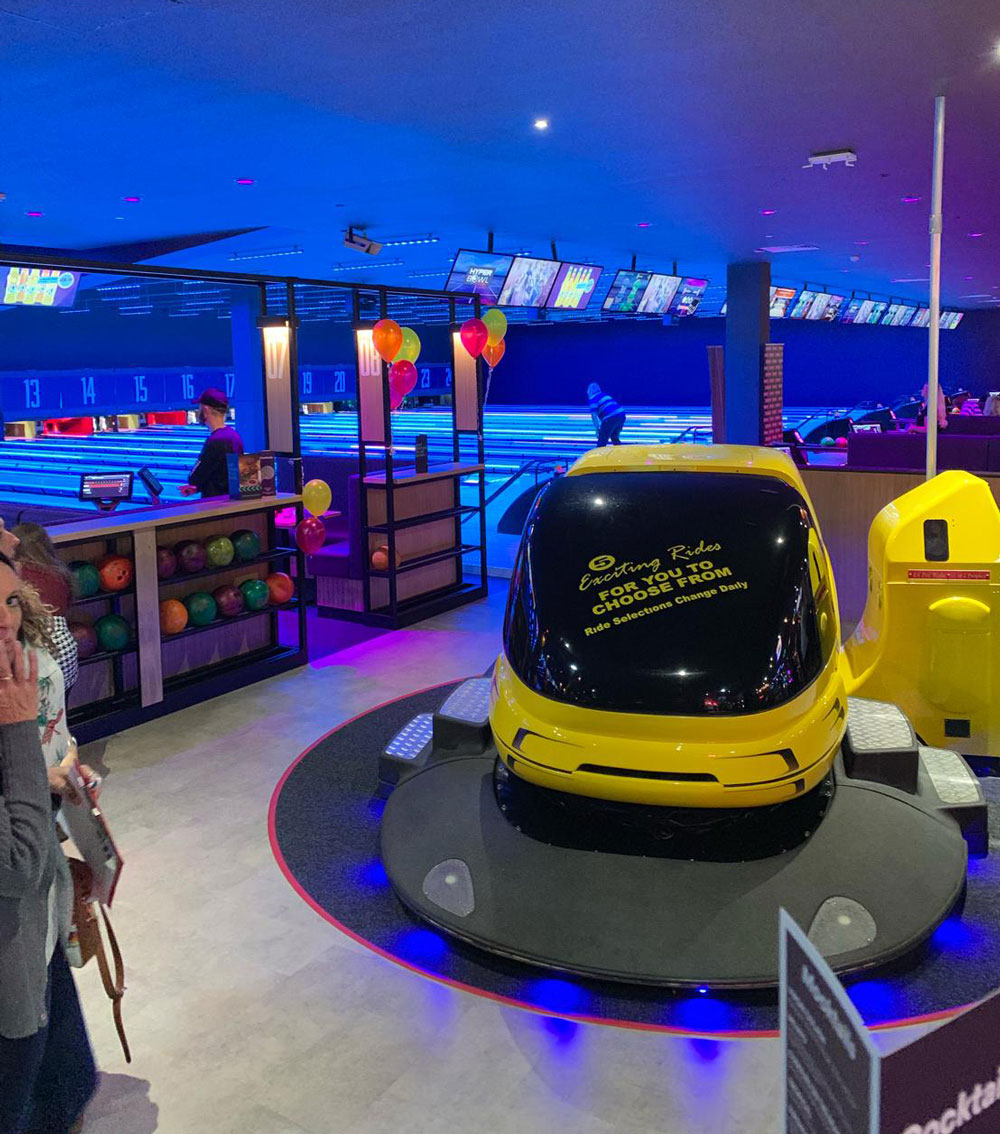 Ventola Projects are the shining light at Cheshire Oaks re-launched Tenpin Entertainment Facility