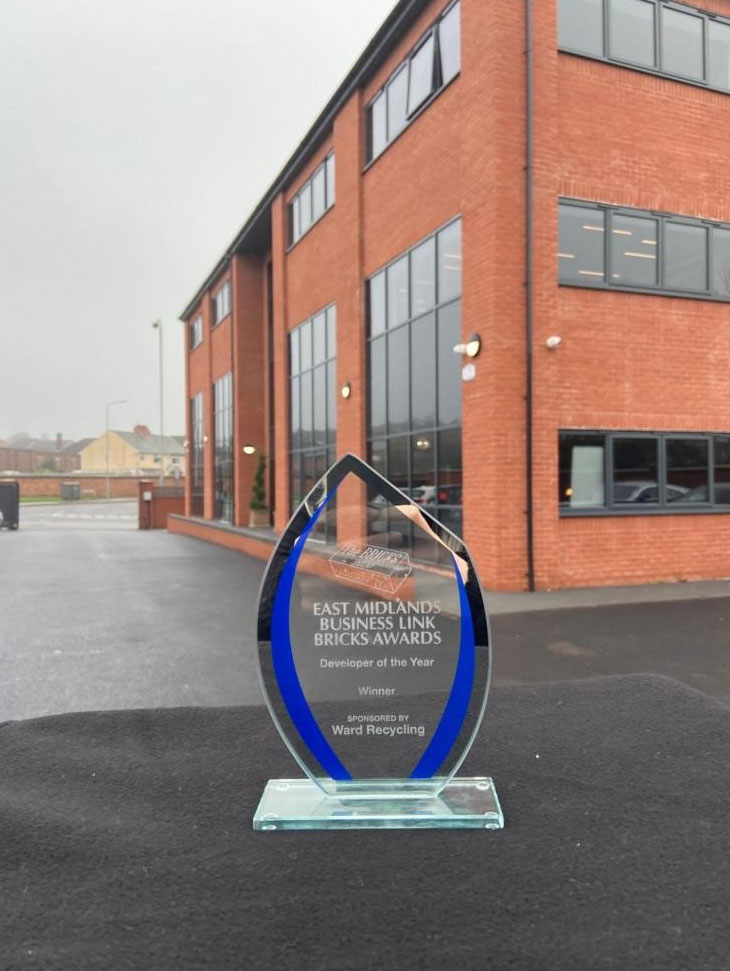 A Nottingham property developer has scooped a prestigious prize at the annual Bricks Awards