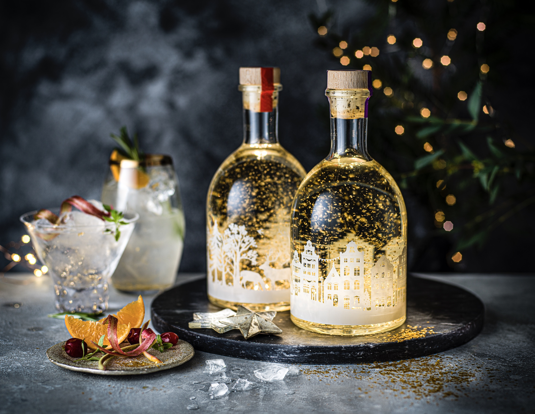 M&S and The Wilkins Group Going For Gold with 'Gin-spired' Snow Globe Liqueurs