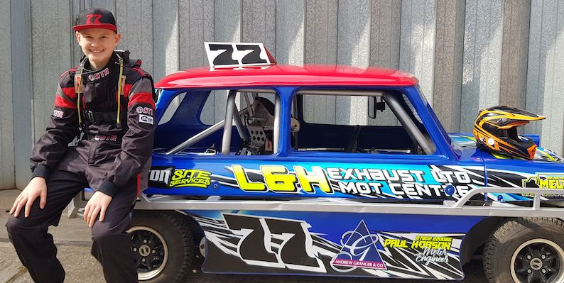 Leicestershire property firm sponsors local teenage racing driver
