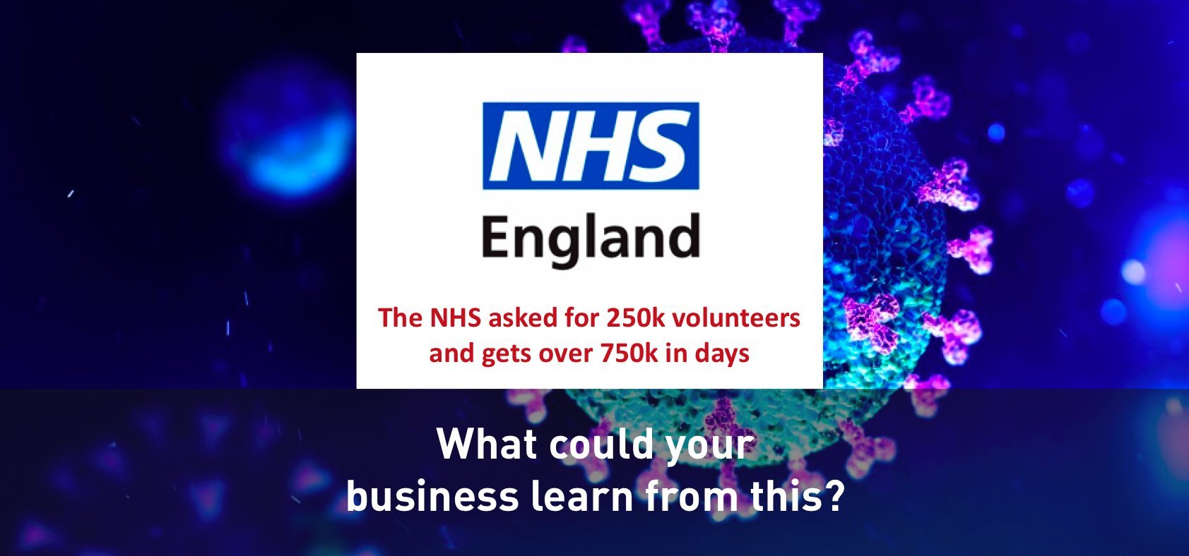 PM asks for 250k NHS volunteers and over 750k are recruited in days