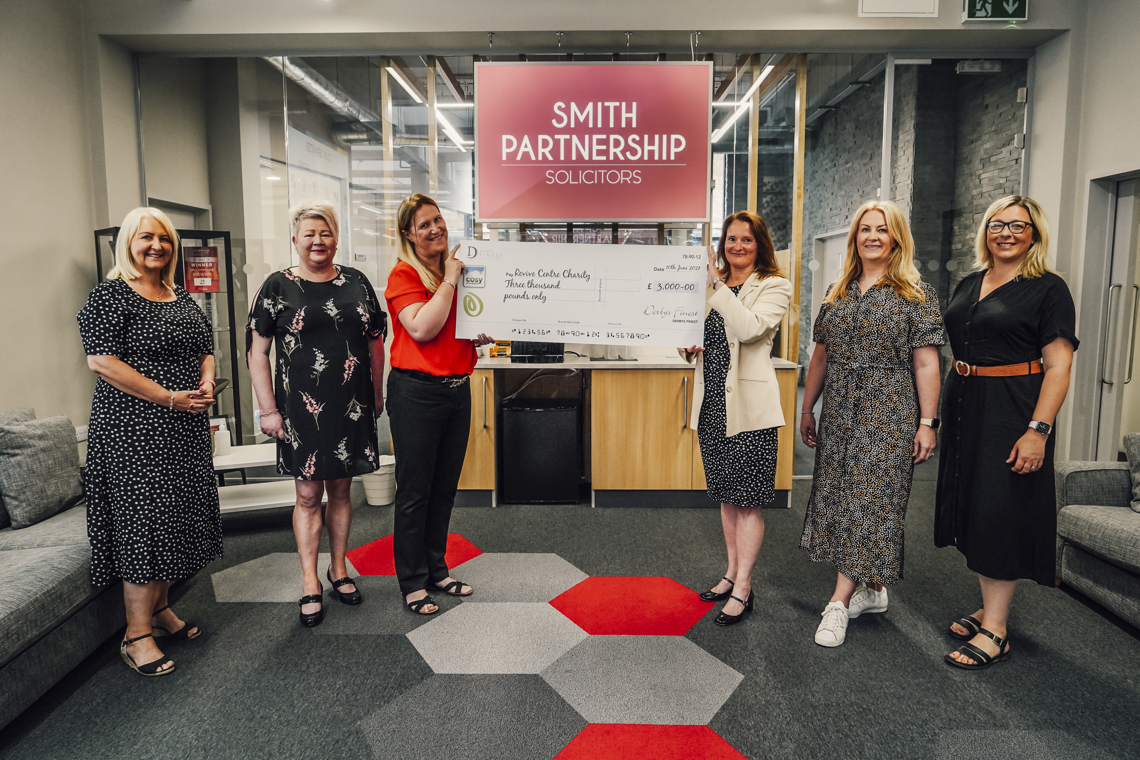 Cosy Direct and networking group Derby's Finest raise much-needed funds for city charity Revive