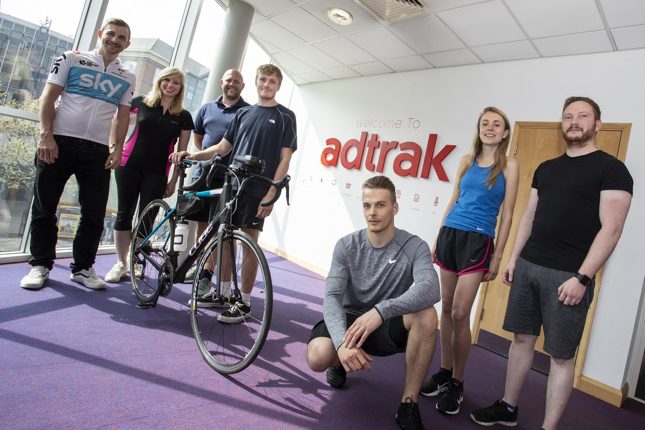 Adtrak put best foot forward for Nottingham charity