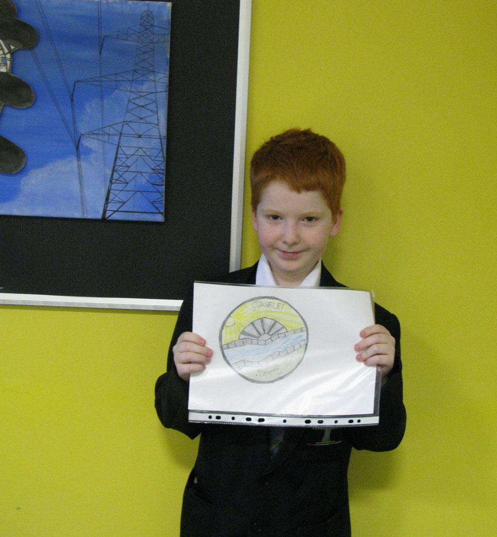 Pupils get creative to design a new logo for ambitious town project