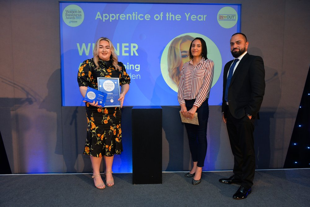 ALICE IS WOMEN IN BUSINESS APPRENTICE OF THE YEAR FOR LEICESTERSHIRE