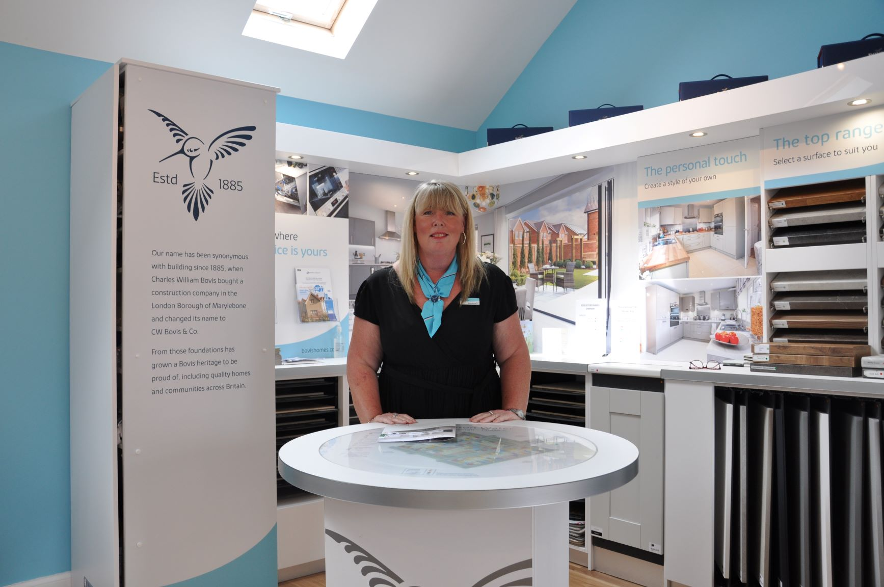 New homes sales consultant all set for charity swim