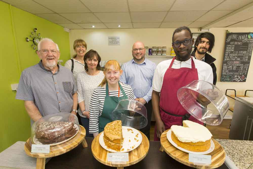 Nottingham-based cafe delighted after receiving a slice of leading developers' community fund