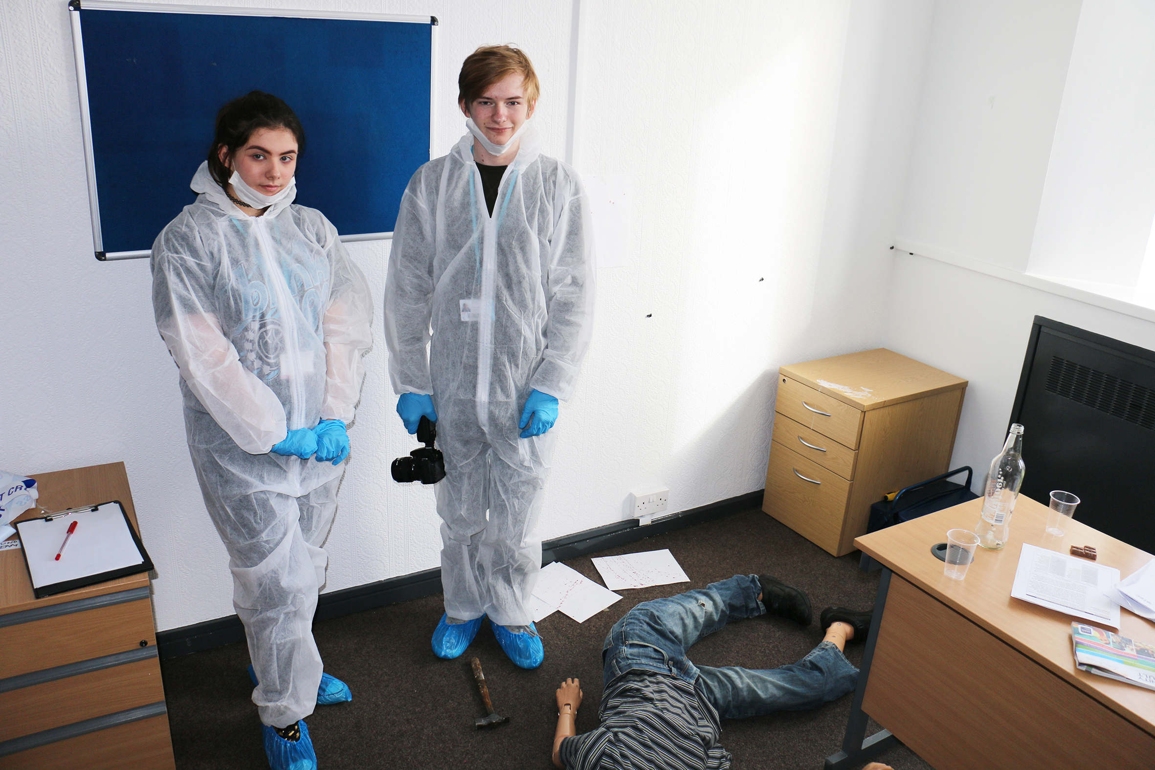 Budding forensics solve murder at college