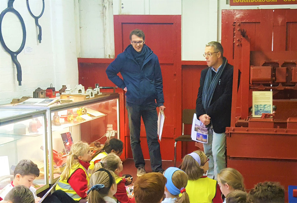 Local youngsters travel back in time at Loughborough Bellfoundry for takeover day