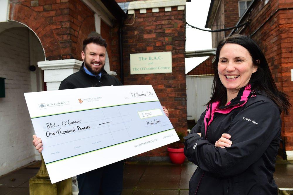 Developer donates £1,000 to Burton Upon Trent rehabilitation charity