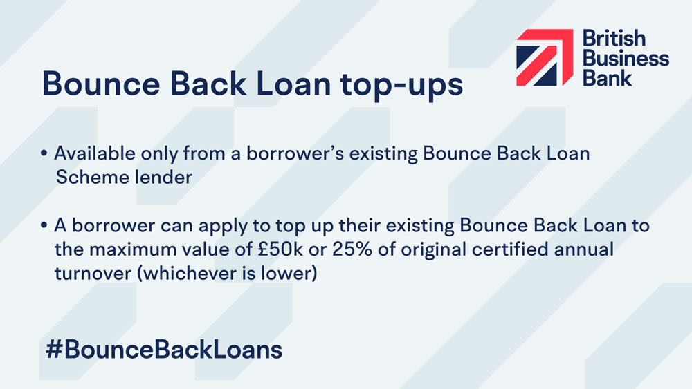 Bounce Back Loan Scheme top-ups open for eligible businesses