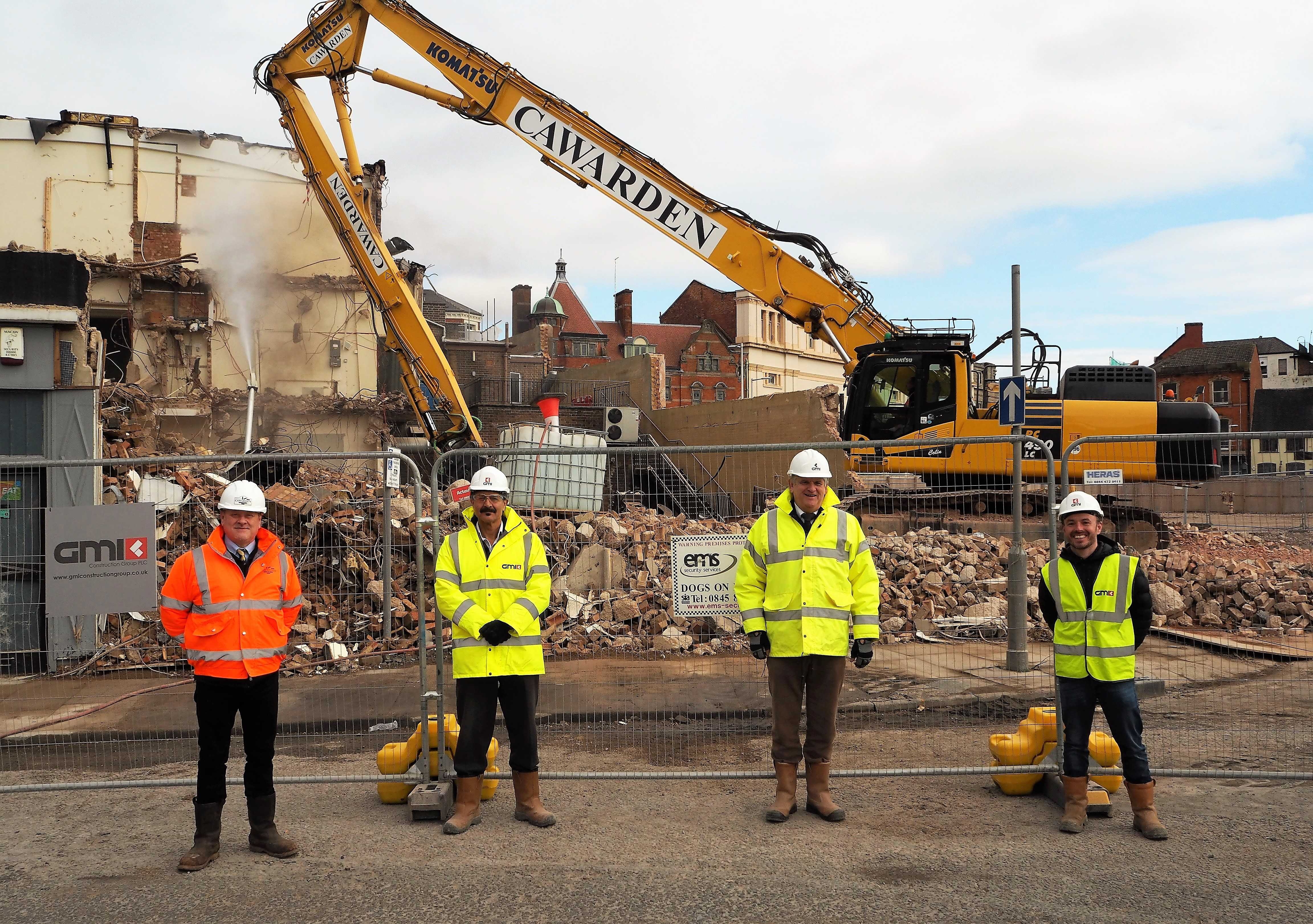 DEMOLITION WORK STARTS AHEAD OF PHASE ONE OF THE £200 MILLION BECKETWELL PROJECT