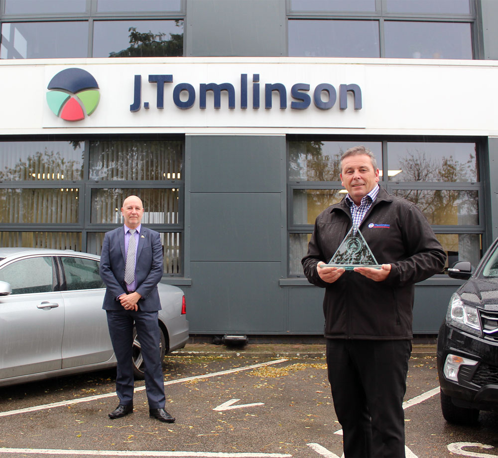 J Tomlinson wins East Midlands BSG health and safety award