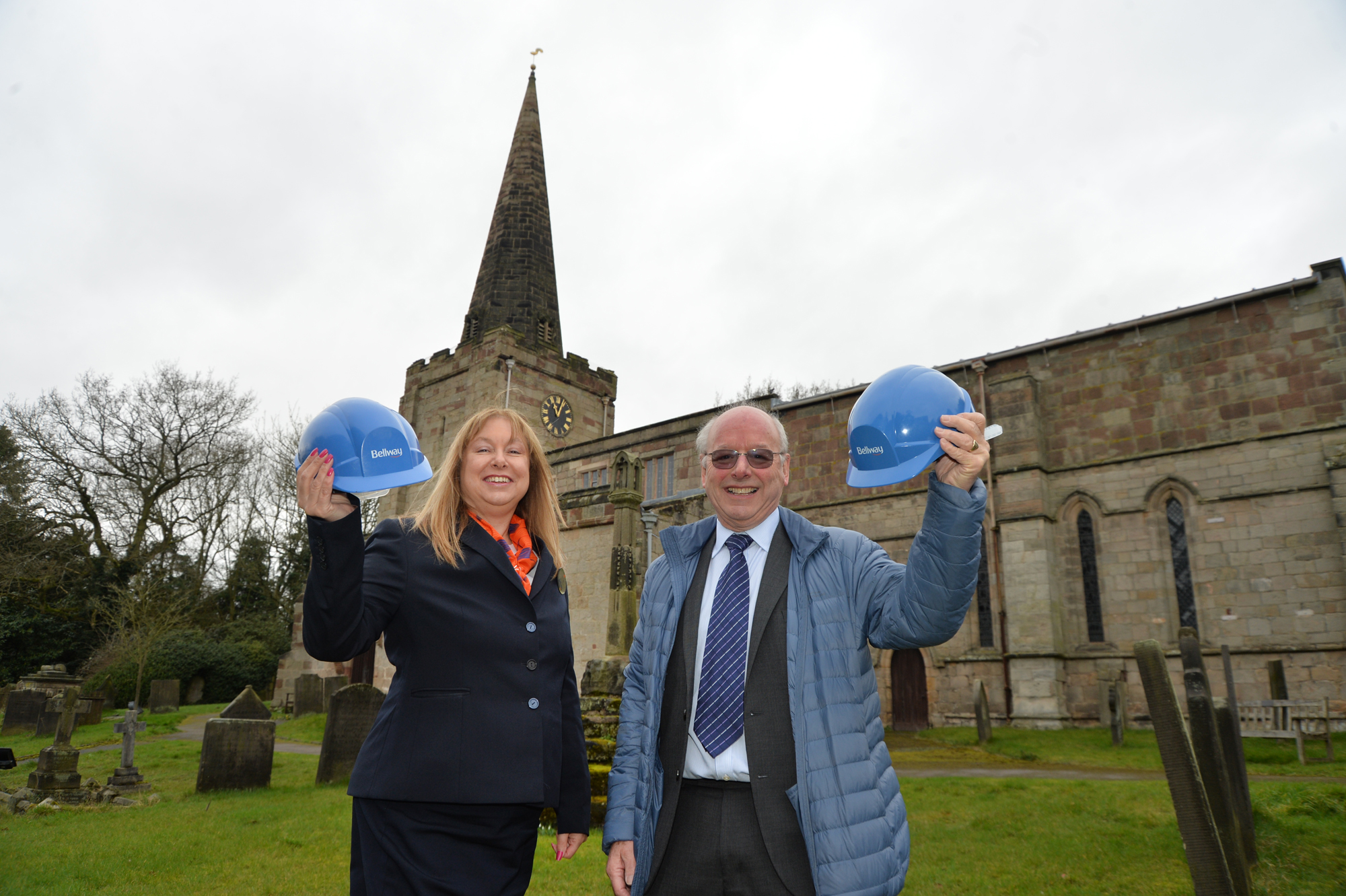 Housebuilder helps raise the roof for Doveridge church appeal