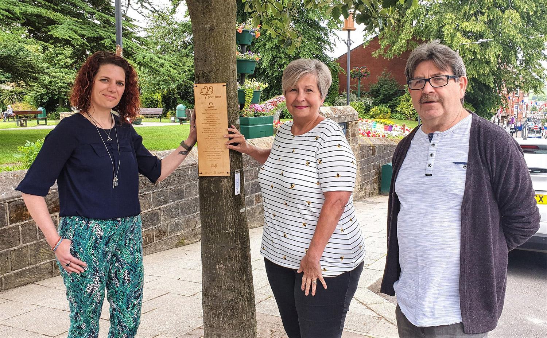 Lubrizol's kind donation helps preserve the verse in Belper's Poet-Tree Trail