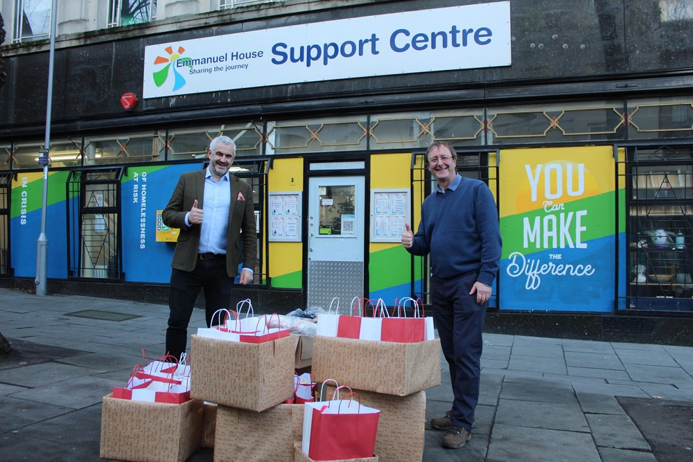 Local developers team up with Emmanuel House to support the homeless this Christmas