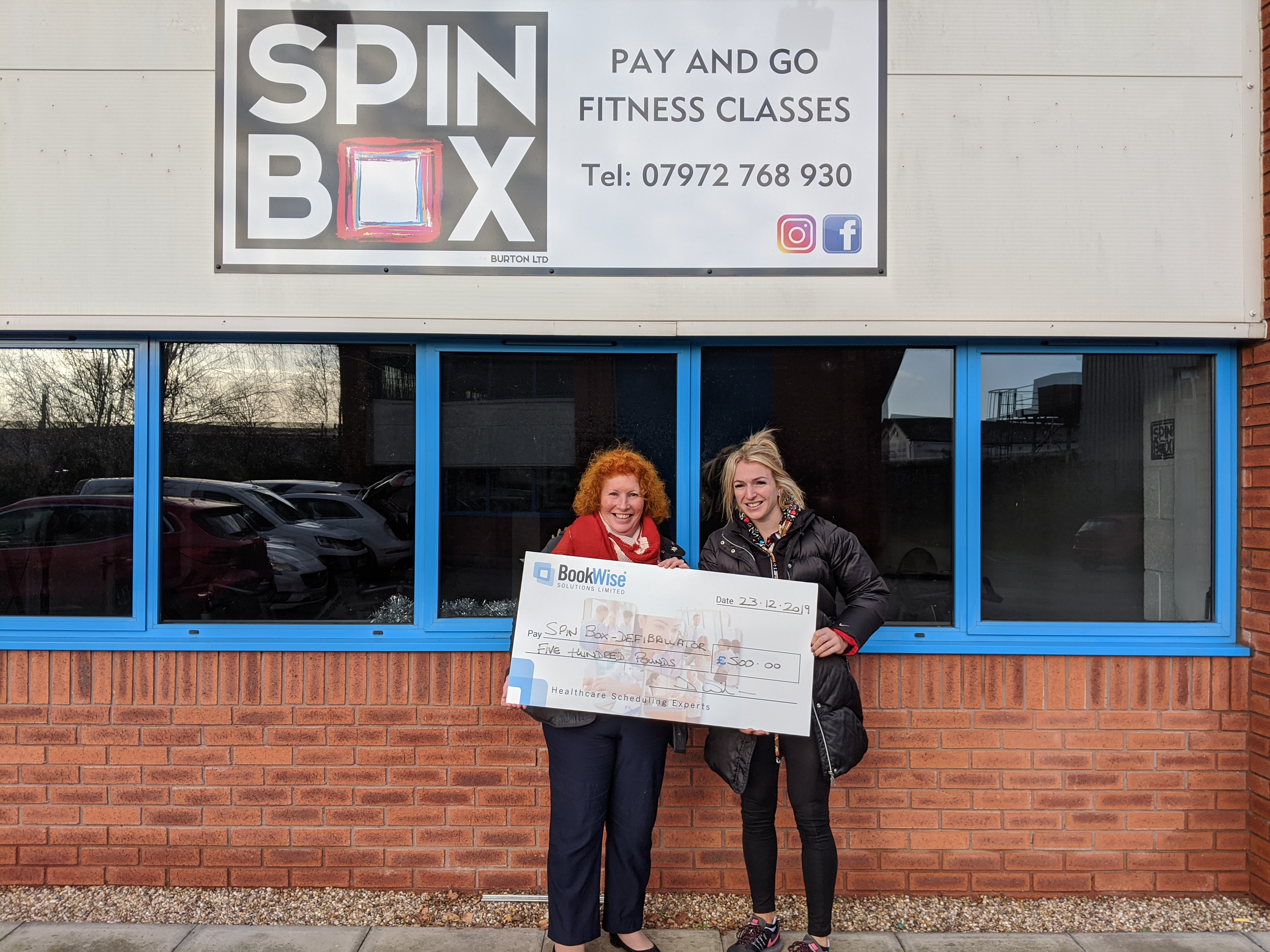 Burton-on-Trent Spin Gym's Charity Dreams Given Boost from BookWise
