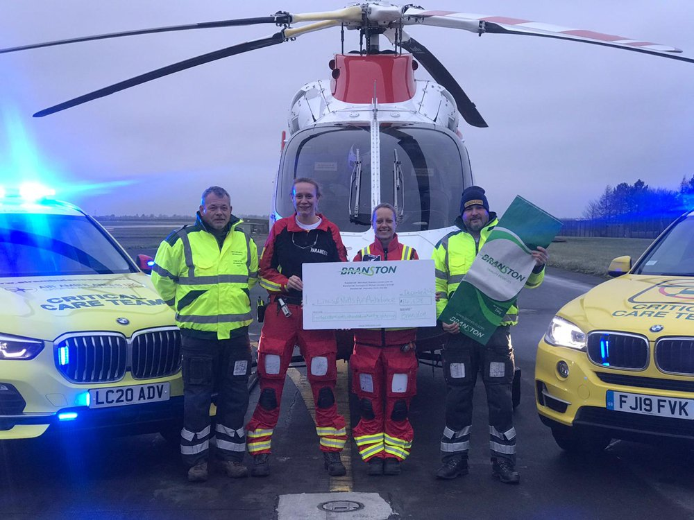 Branston raises £14K for Lincs and Notts air ambulance
