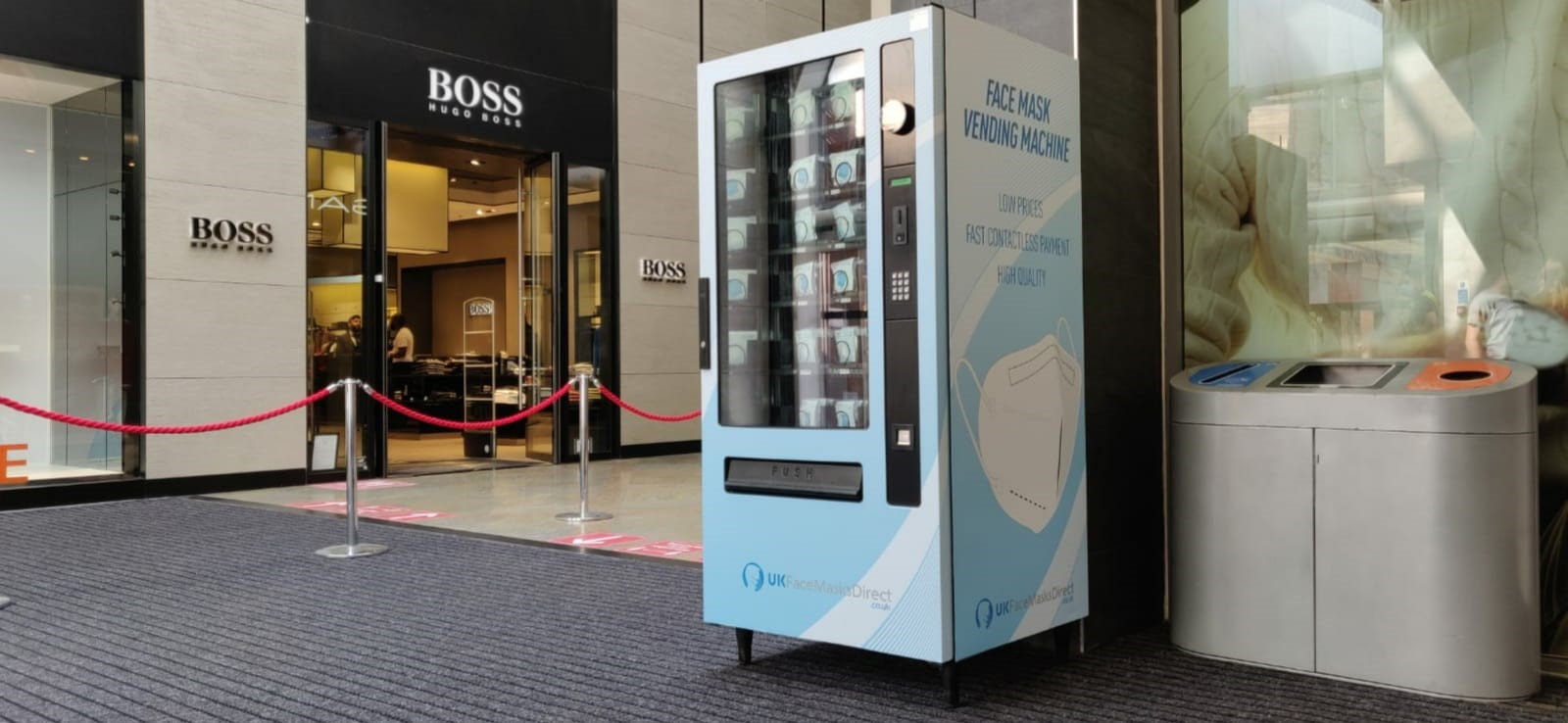 UK Face Masks selects Cema Vending for safer shopping centres solution