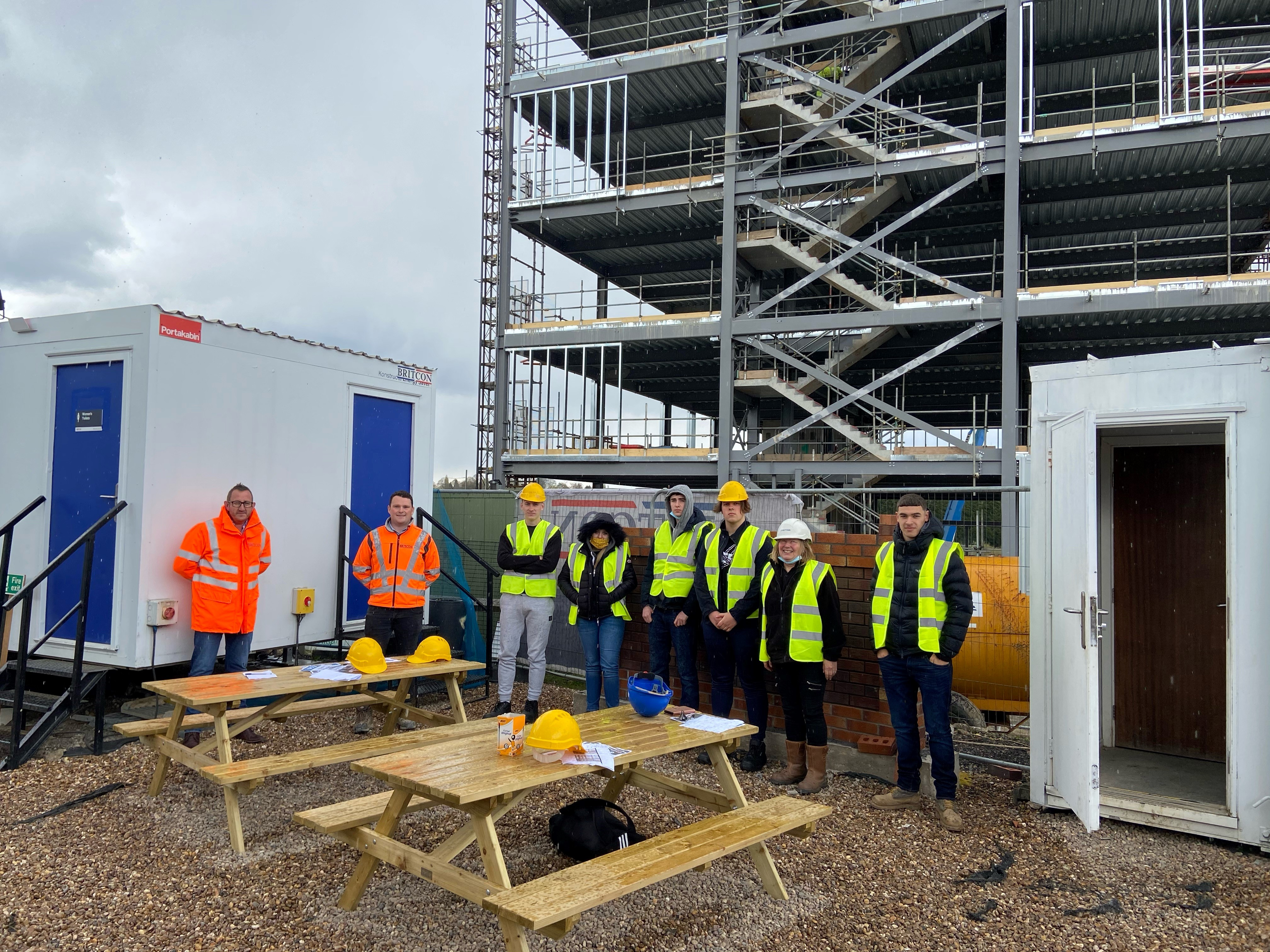 Britcon welcomes Chesterfield College construction students to One Waterside Place site