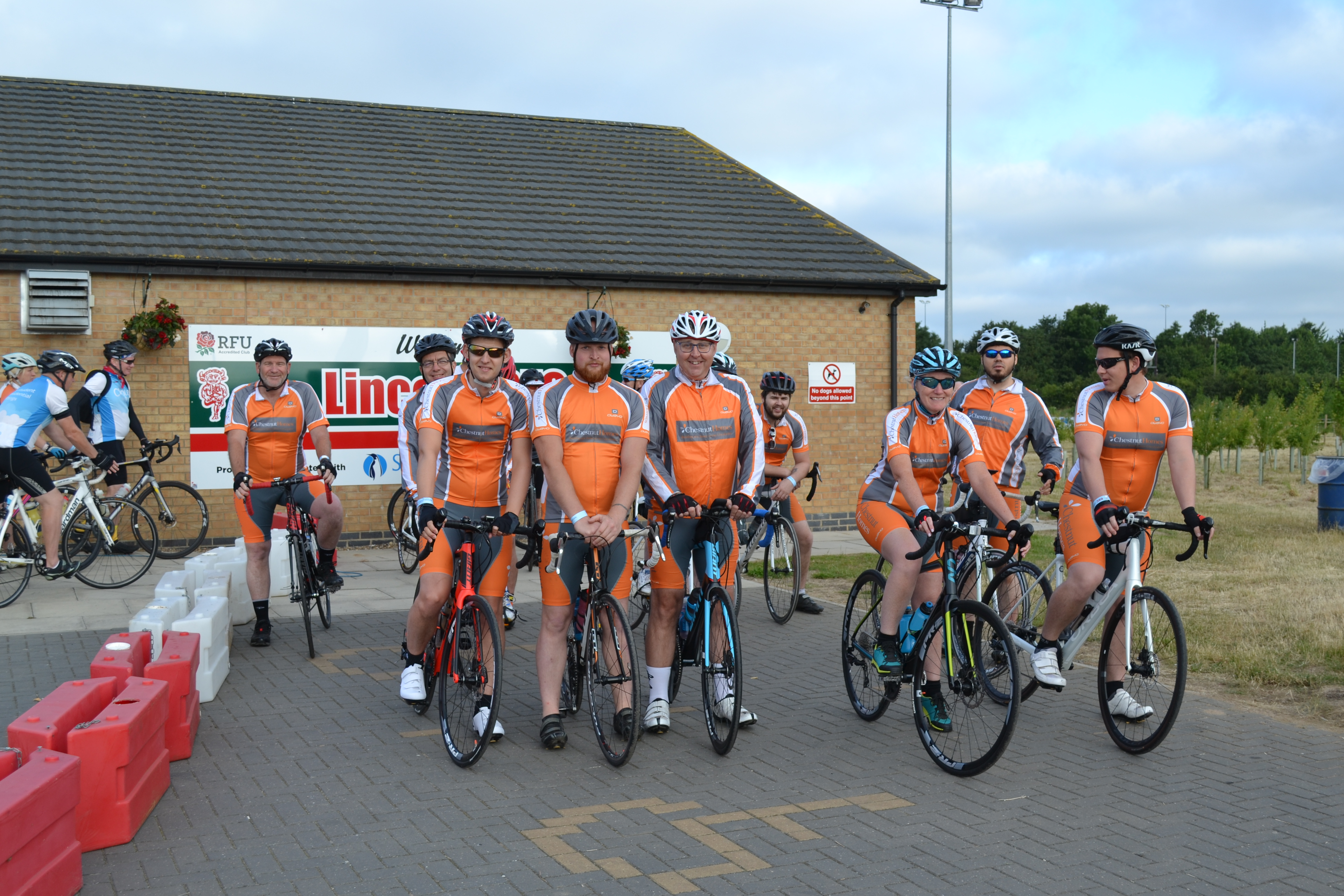 Housebuilders take to the road for charity cycle ride