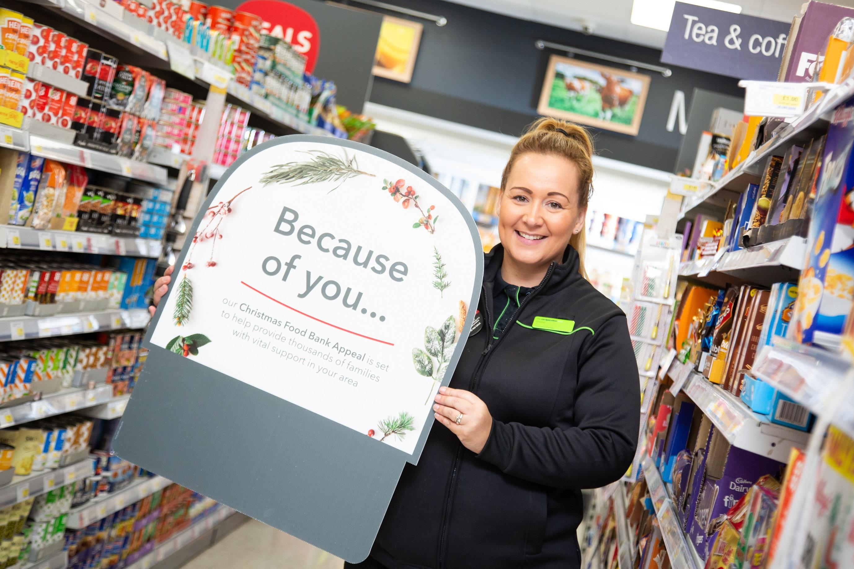 Central England Co-op customers and members donate enough food to create over 30,000 meals for people in need following Christmas Food Bank Appeal