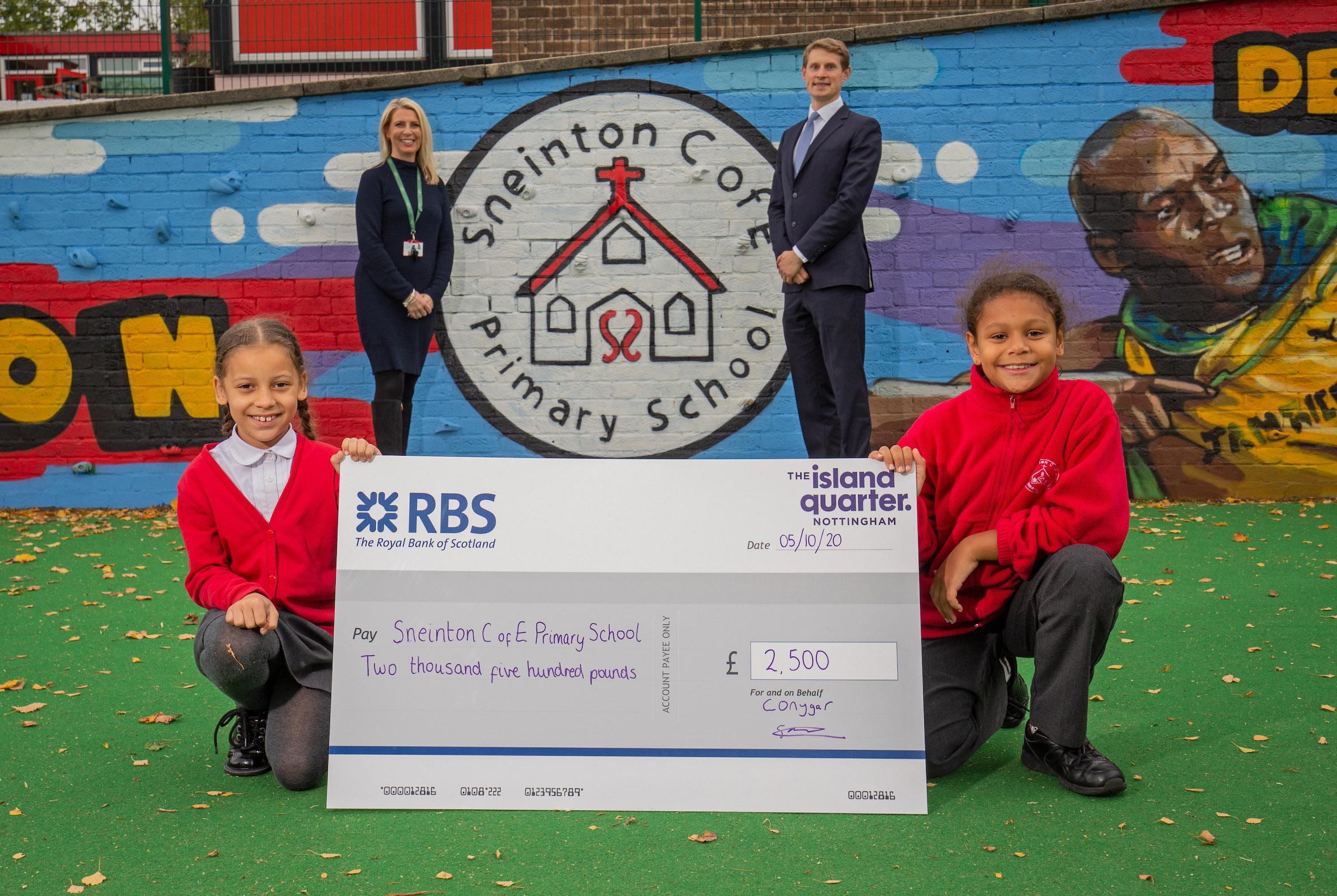 Nottingham city centre school gets £2.5k donation from The Island Quarter