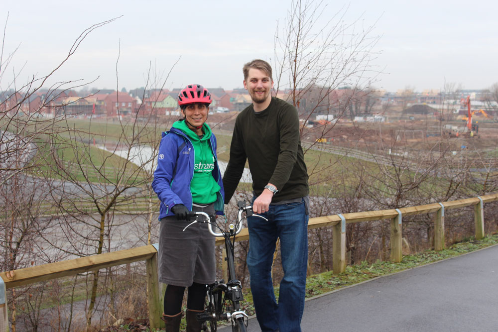 Sustrans partnership brings greener future for growing Middlebeck
