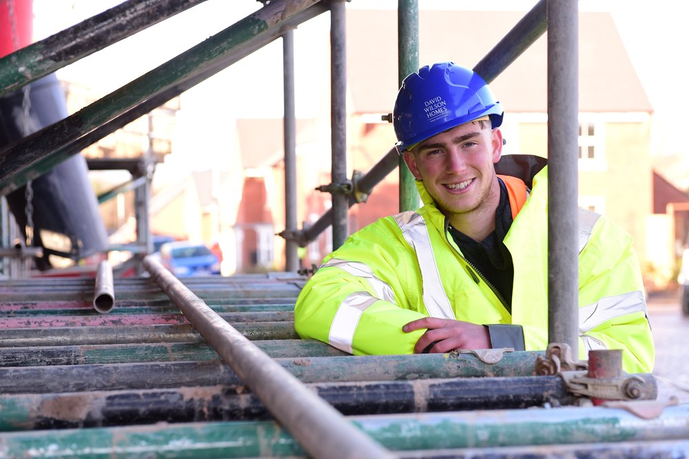 David Wilson Homes apprentice follows in brother's footsteps in Uttoxeter