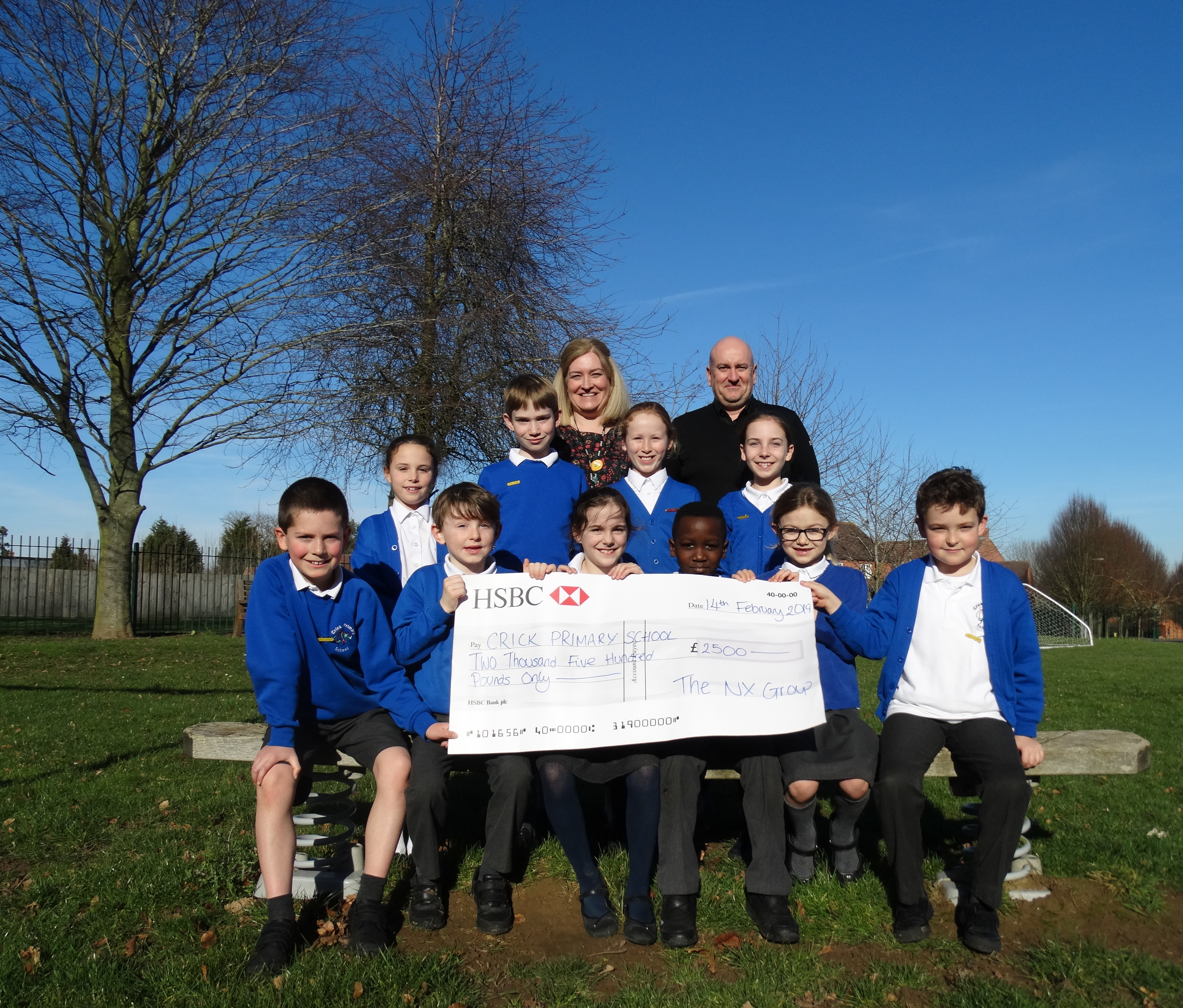 Local firm's £2500 donation set to revamp neighbouring school's playground