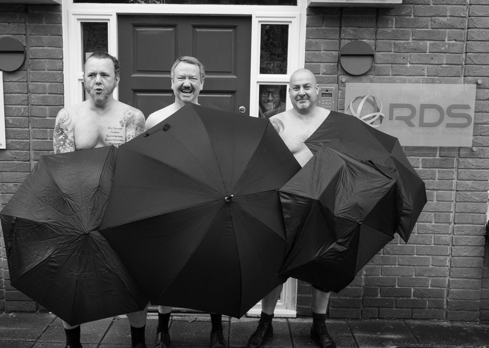 RDS Global staff strip off to make a date for charity calendar