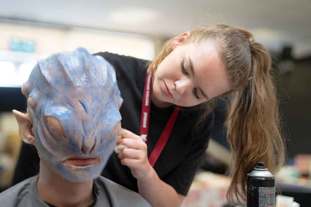 Specialist make-up students gain 'out of this world' experience