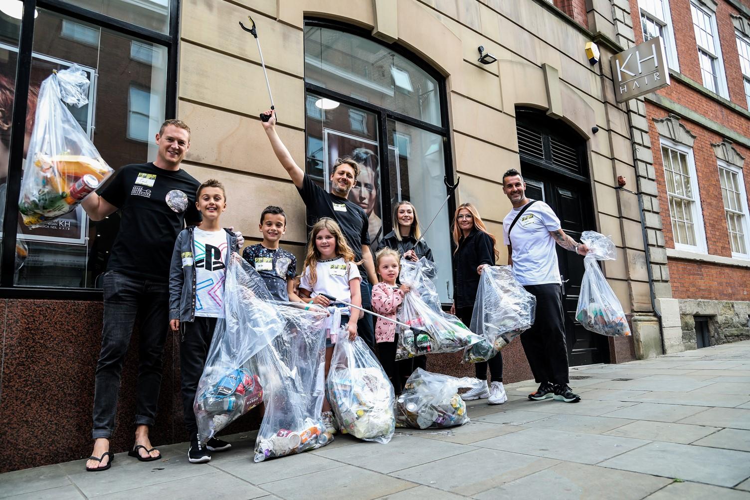 Nottingham salon in city centre street clean